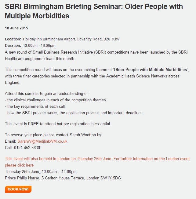 SBRI Healthcare Briefing Event